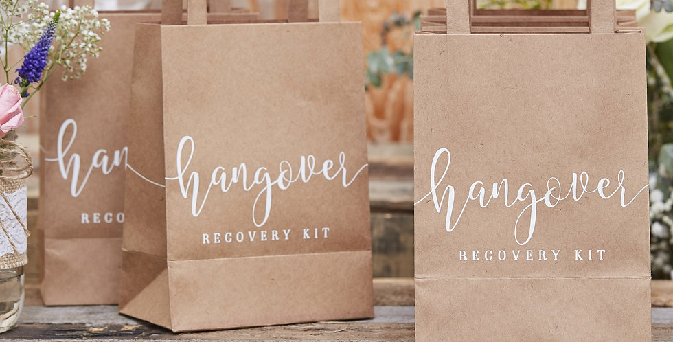 Hangover Recovery Kit Bags - Rustic Country