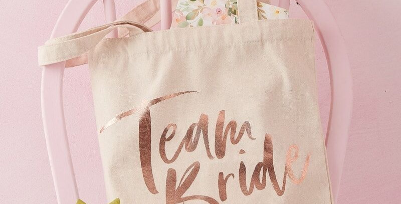 Team Bride Printed Tote Bag Floral Hen Party