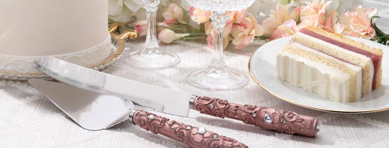 Lillian Rose Rose Gold Knife and Server Set