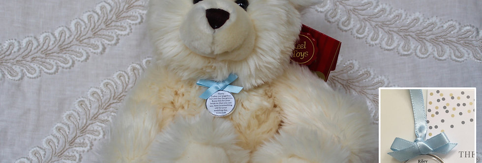 Pageboy Usher Ring bearer 'Meghan' Teddy Bear with Something Old Charm
