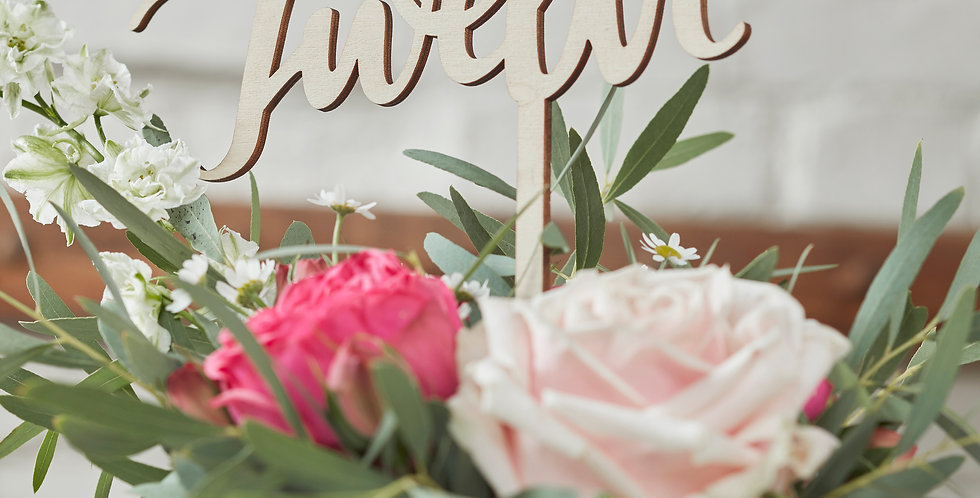 Wooden Table Numbers 1-12 - Boho