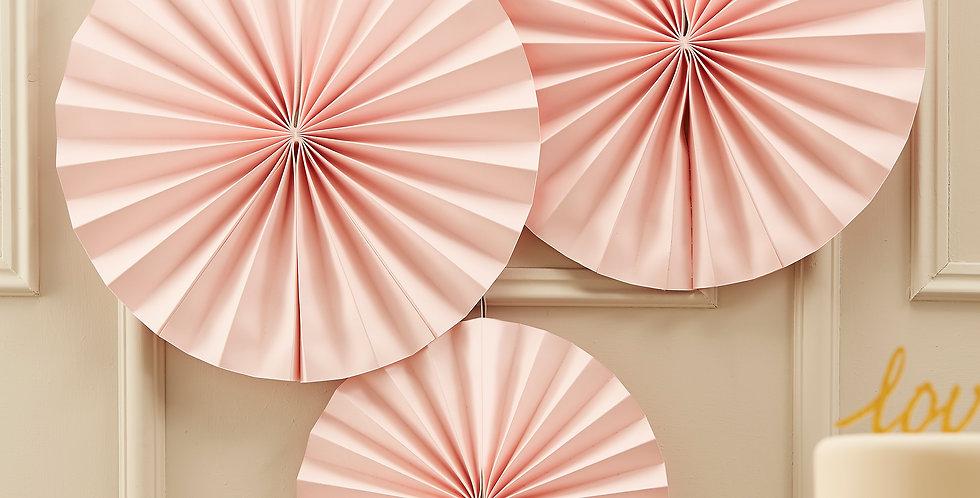 Circle Fan Pinwheel Decorations - Pastel Pink - Pastel Perfection