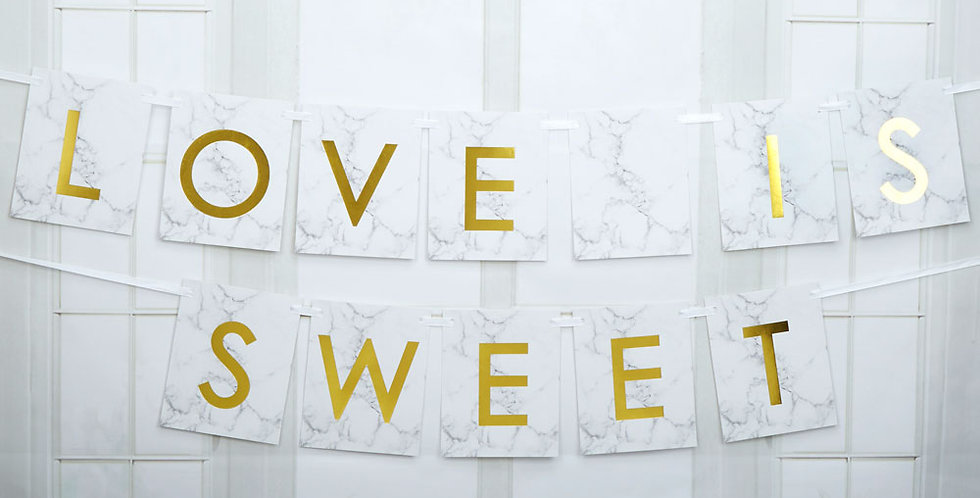 Scripted Marble - Candy Buffet Bunting