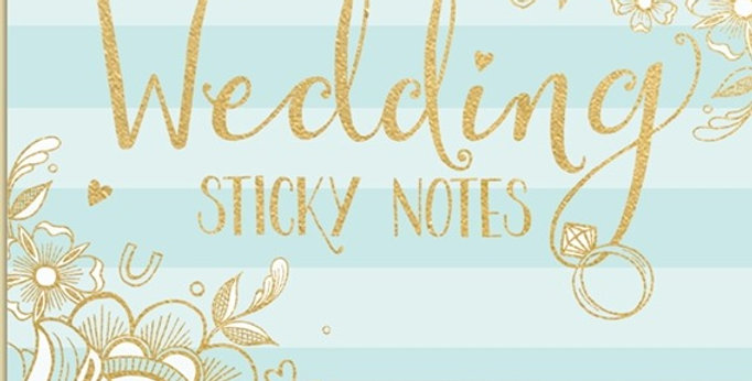 Wedding Sticky Notes Duck Egg Blue