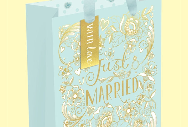 Medium Just Married Gift Bag