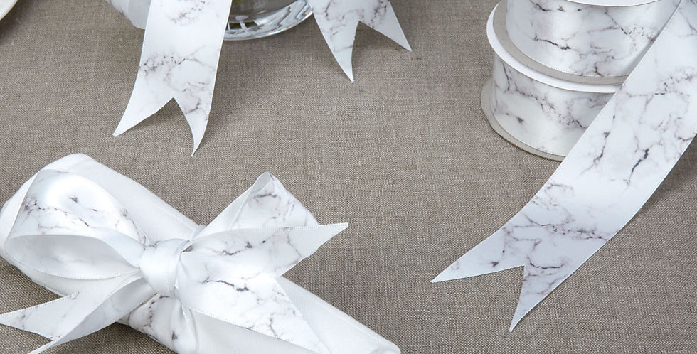 Scripted Marble - Marble Printed Ribbon