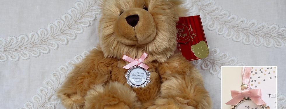 Flower Girl Bridesmaid 'Harry' Teddy Bear with Charm