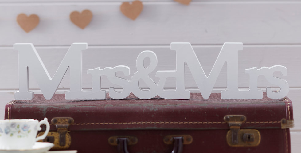 Mrs & Mrs Wooden Sign - Vintage Affair