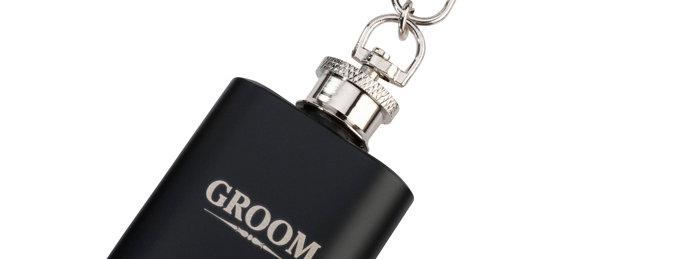 Mini Black Flask Groom