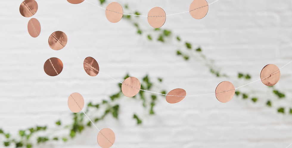Rose Gold Circle Garland - Beautiful Botanics