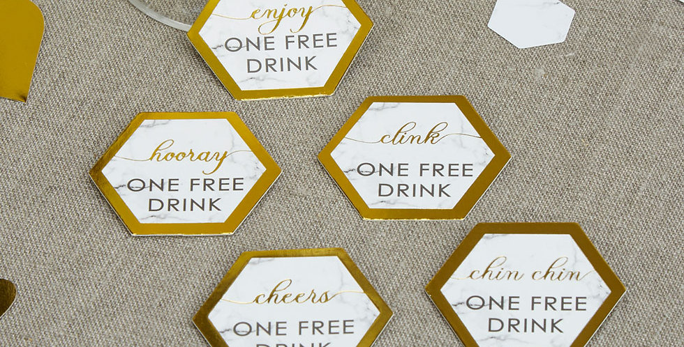 Scripted Marble - Drinks Tokens