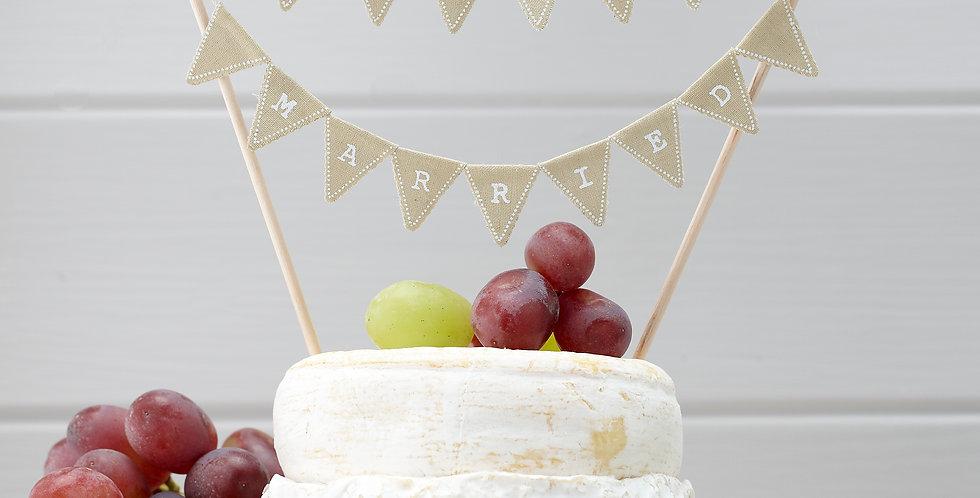 Just Married Cake Bunting - Vintage Affair
