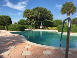 An Island Club clubhouse pool
