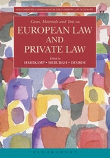 Cases, Materials and Text on European Law and Private Law.