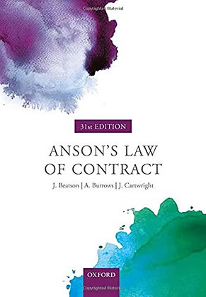 Anson's Law of Contract.