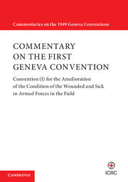 Commentary on the First Geneva Convention.