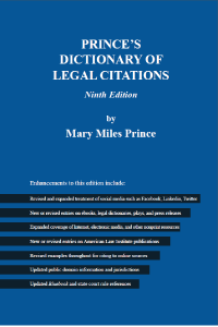 Prince's Dictionary of Legal Citations. (9版)
