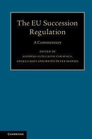 The EU Succession Regulation: A Commentary.
