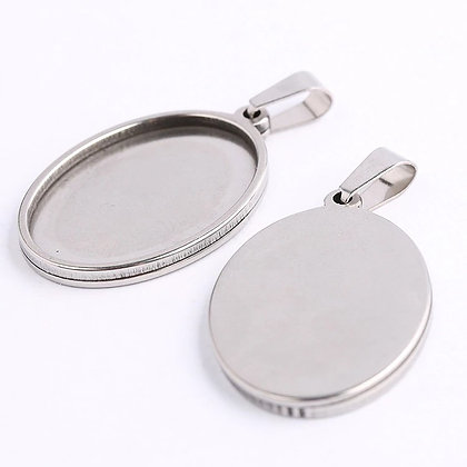 Polished Oval Necklace