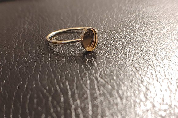 Gracefully Oval Gold Filled