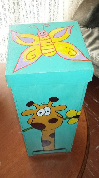 Caja organizadora con dispensador