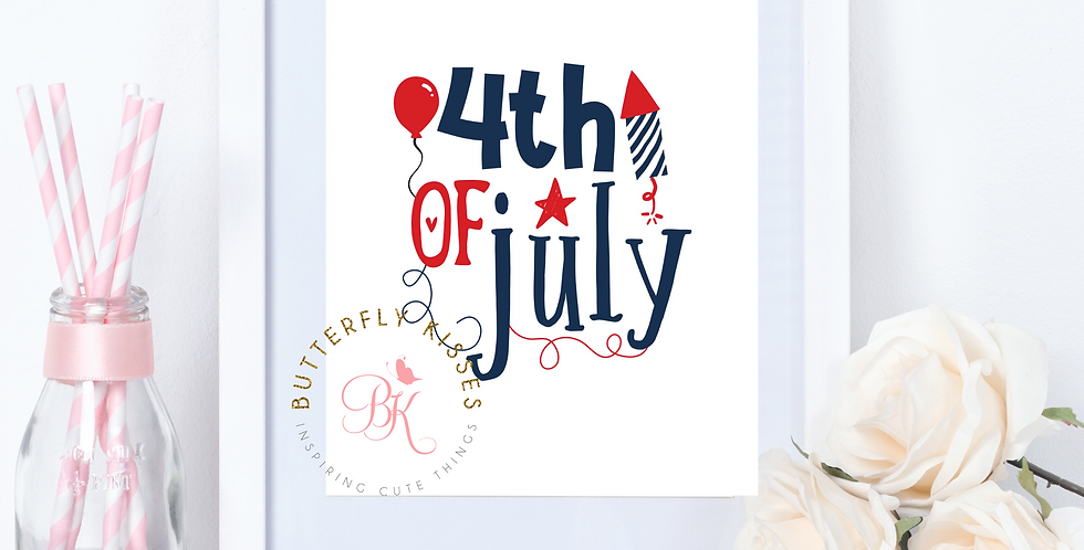 4th of July, Independence Day, 8x10 digital download, art print