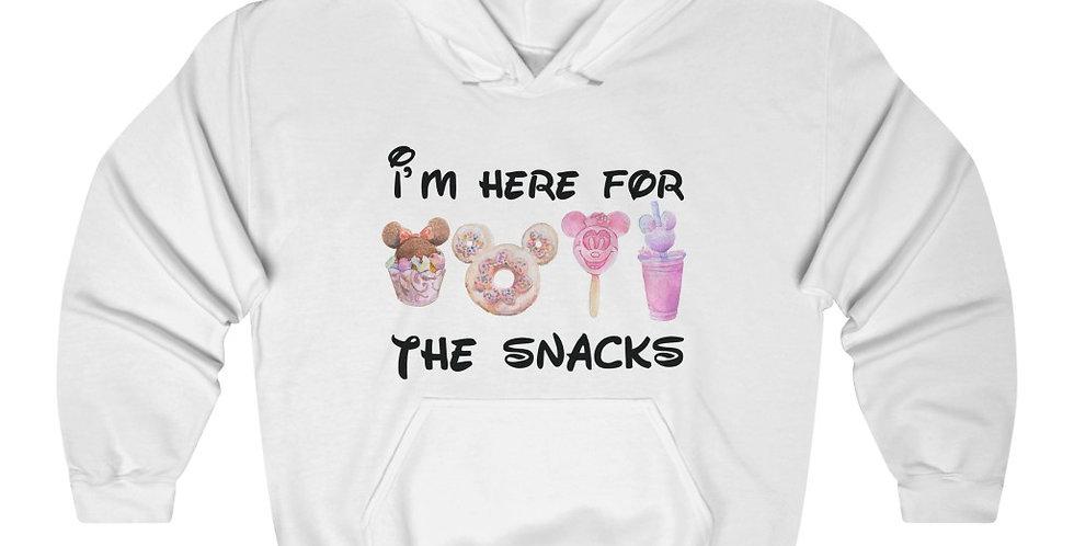 I'm Here For The Snacks Unisex Heavy Blend™ Hooded Sweatshirt