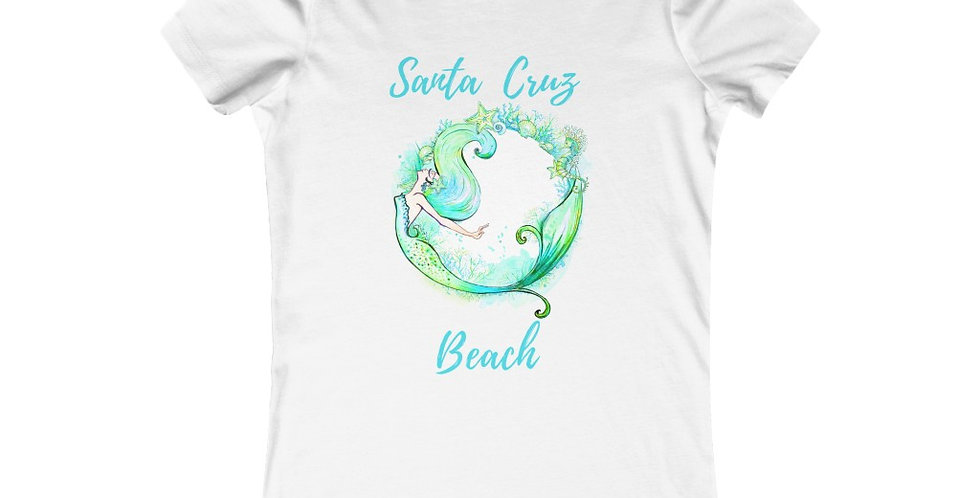 Santa Cruz Green Mermaid Womens T-shirt