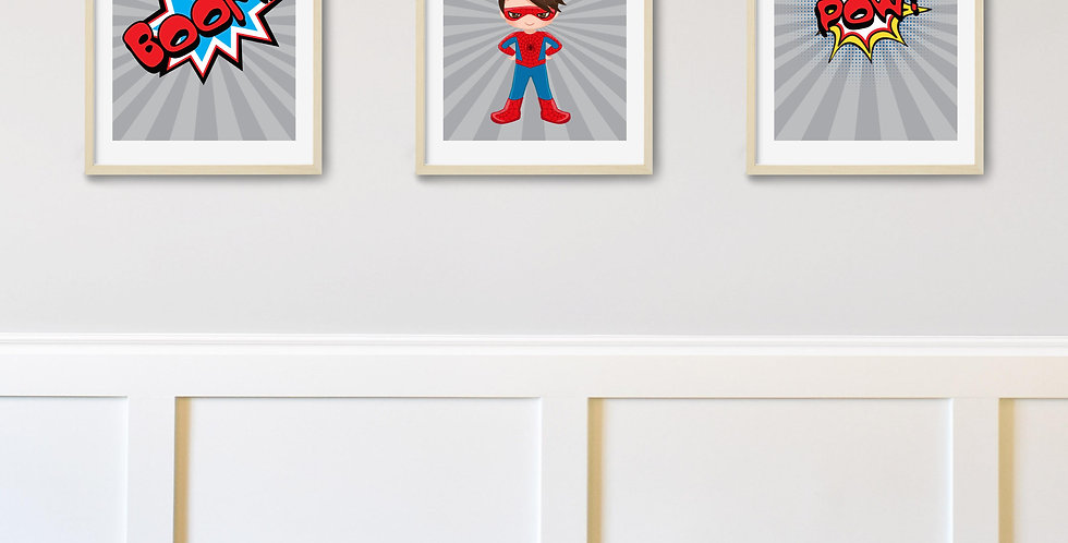 Spider Boy superhero 8x10 trio