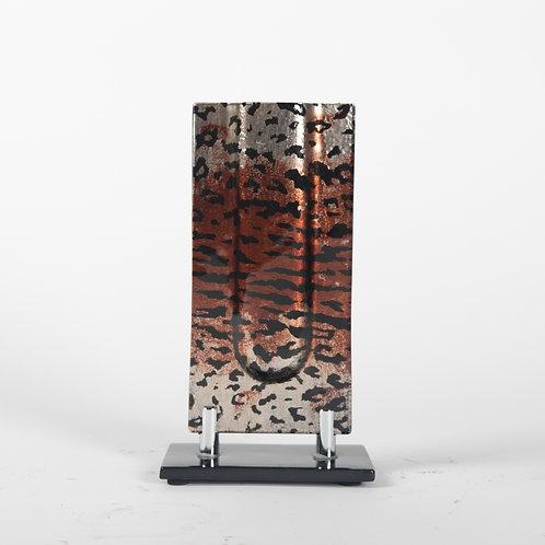 Glass Art Leopard