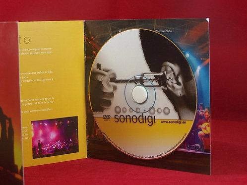 CD duplicado e impreso  Digipack Díptico en Cartón con botón de goma