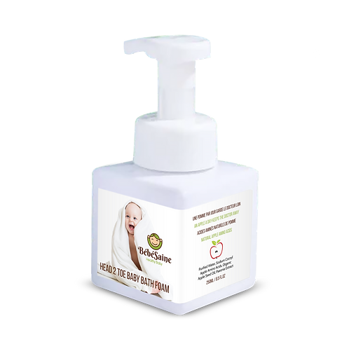 Baby Head to Toe Gentle Bath Foam Wash with Cold-pressed Apple Seed Oil Tear-Free