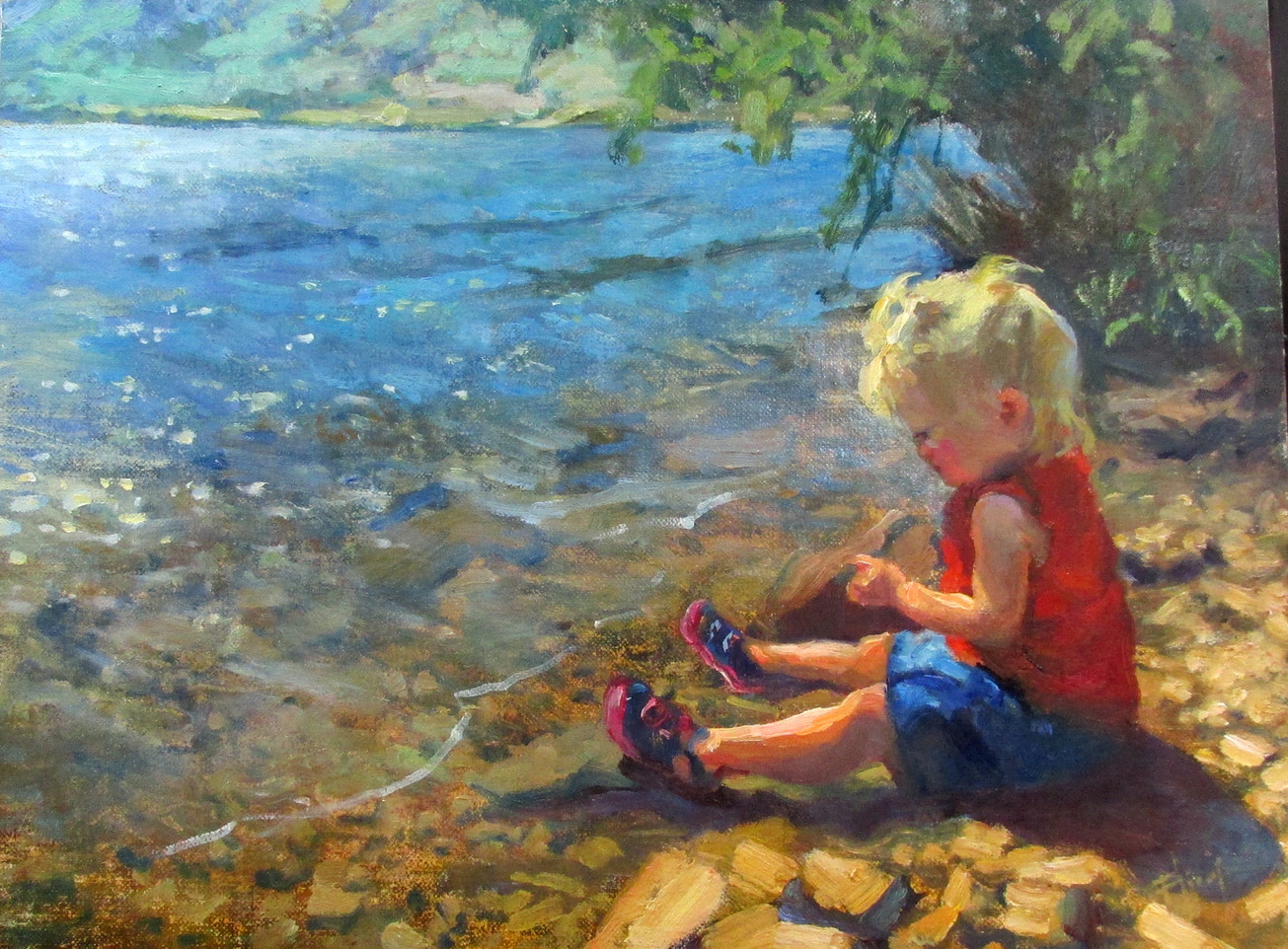 Riley by the water, 9x12, SOLD