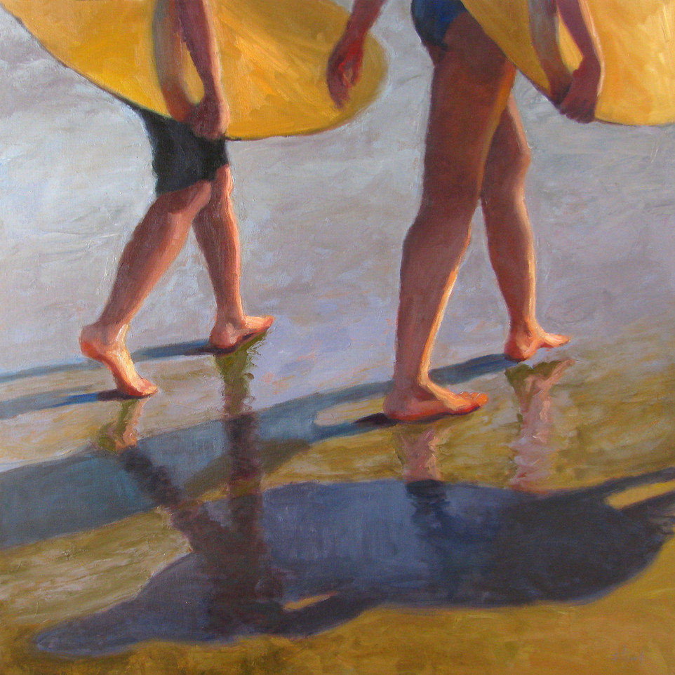 Skimming the surface36x36, SOLD