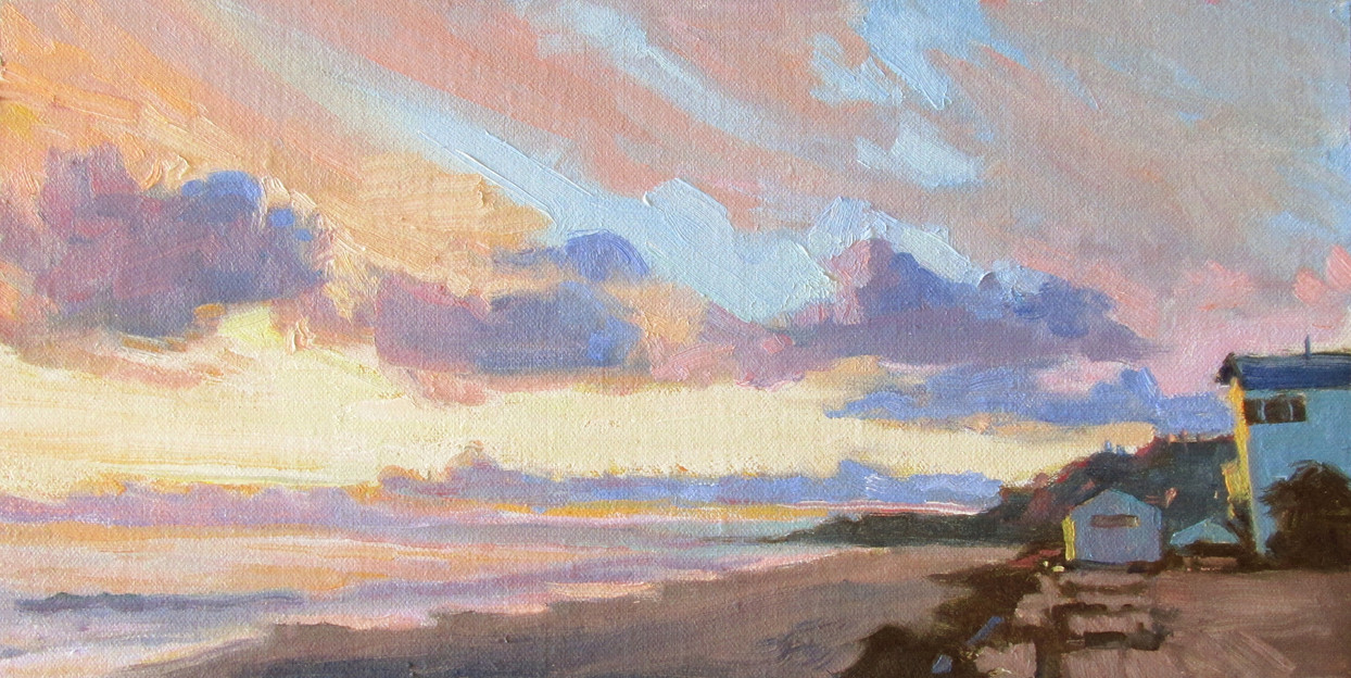 Bloomin' sunset, 6x12, SOLD