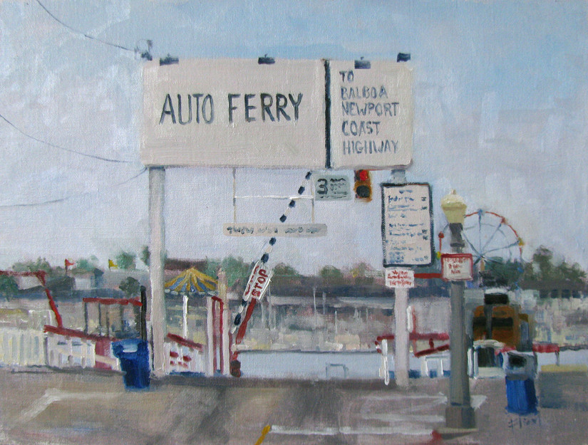 Ticket to ride, 12x16, $800