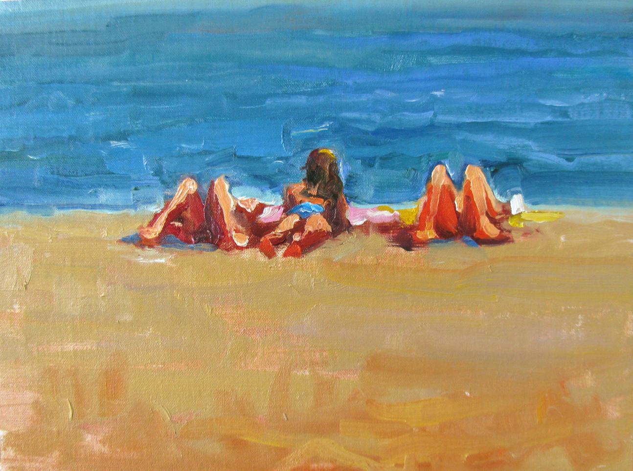 Summer beckons, 9x12, SOLD