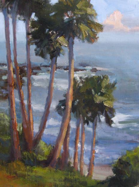 Laguna palms, 9x12, private collection