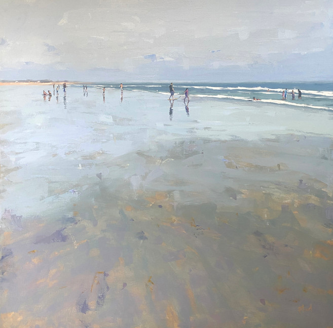 The beach is calling, 36x36, $1800