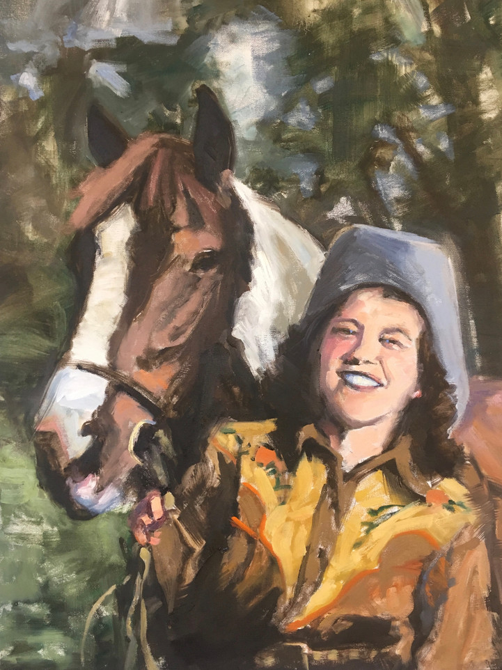 Polly & Peanut, 16x20, private collection