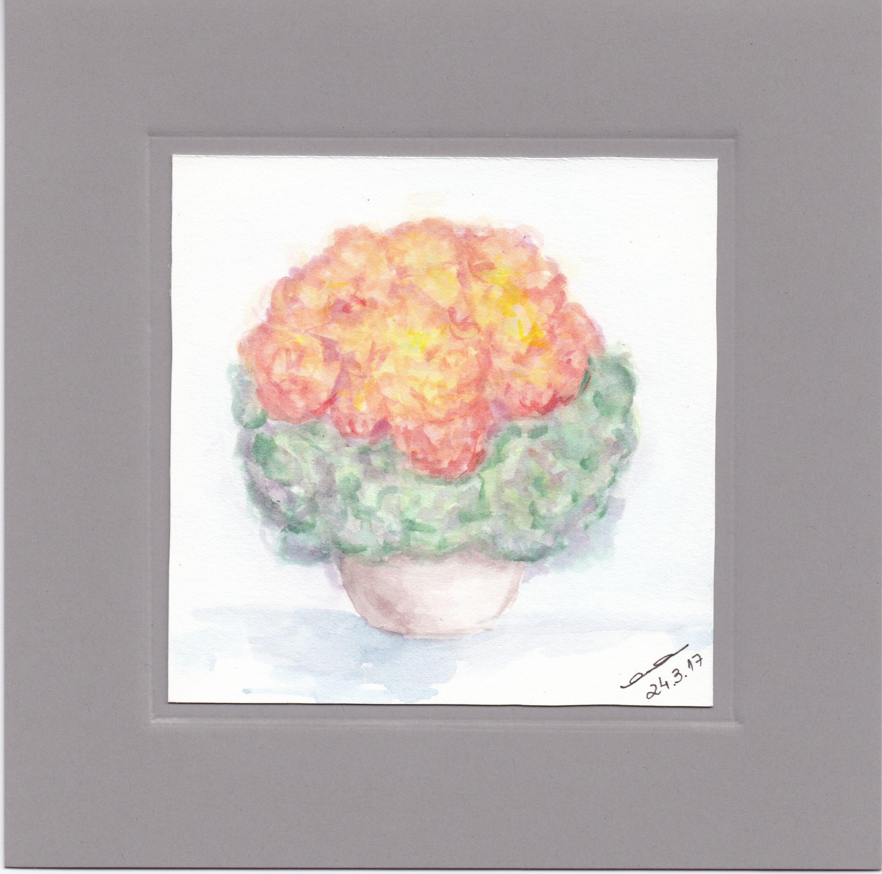 Karte - Hortensien Orange