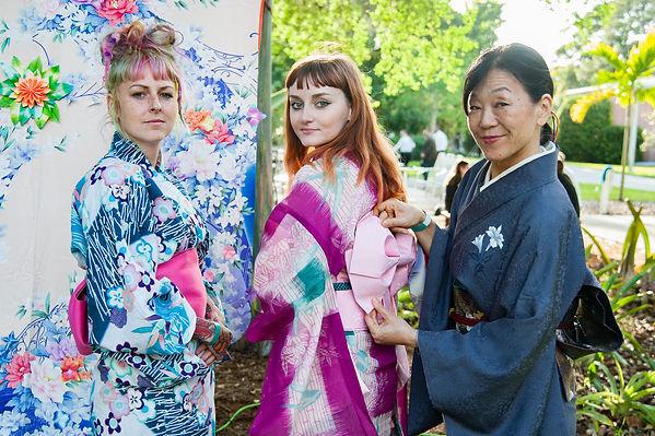 Ringing Museum 2019 Wine Walk. Megan Howell, Amanda Voce, Kuniko Yamamoto, Origami Air