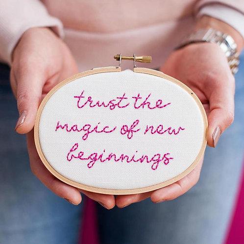 Stitch Kit - Trust the magic of new beginnings