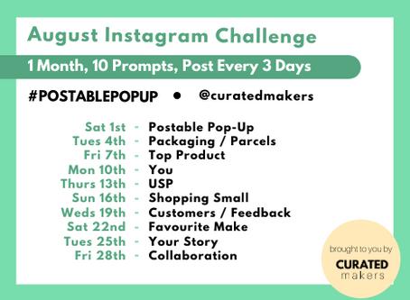 The August Instagram Challenge For #postablepopup