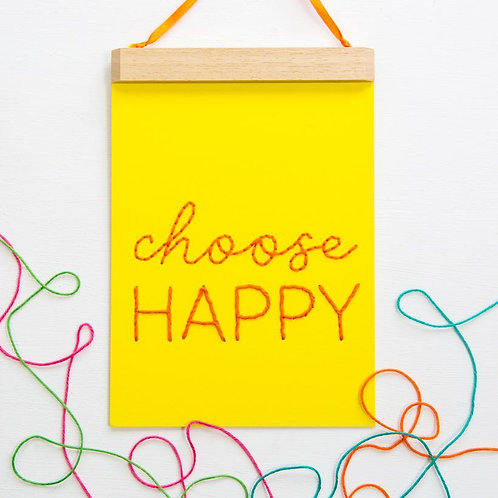 Stitch Kit - Choose Happy