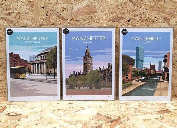 Manchester A4 Prints