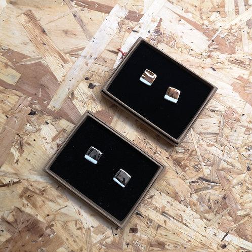 Ceramic Square Earrings