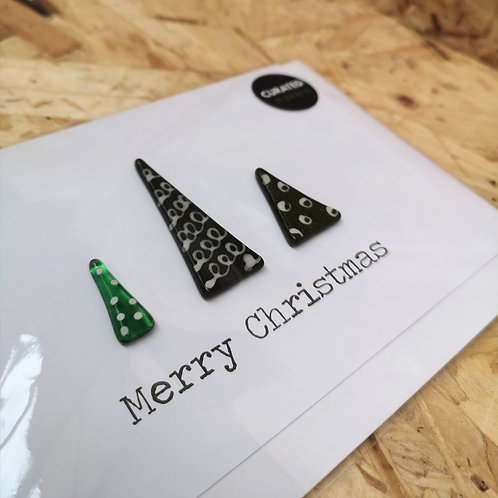 Glass Christmas Tree Card