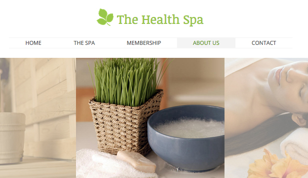 Wellness website templates – Health Spa