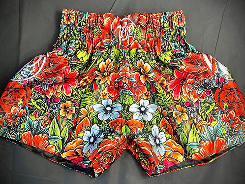 Floral Muay Thai Shorts